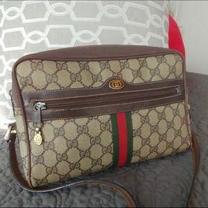 Gucci Vintage Monogram web stripe shoulder bag
